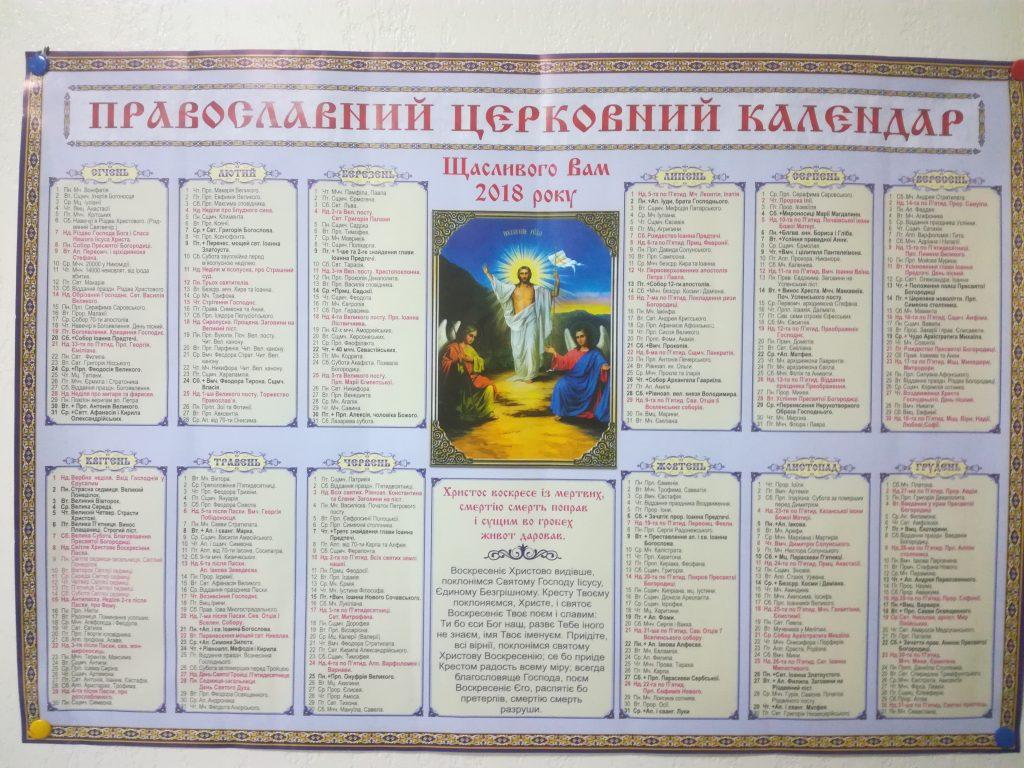 Церковний календар – кожен день свято